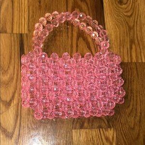 Prettylittlething beaded pink handbag!